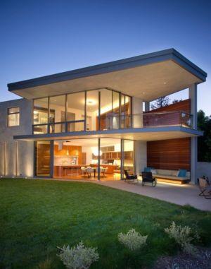 façade terrasse de nuit - Chatauqua Residence par Studio William Hefner - Californie, Usa