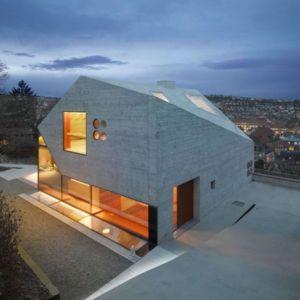 façade terrasse de nuit - House H36 par MBA-S architecture - Stuttgart, Allemagne
