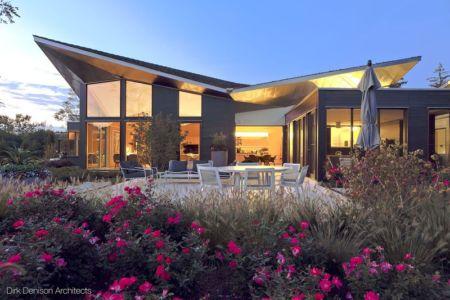 façade terrasse de nuit - Illinois residence par Dirk Denison architects - Usa