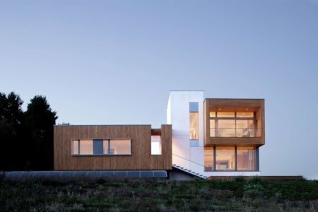 façade terrasse de nuit - Karuna House par Holst Architecture - Newberg, OR, Usa