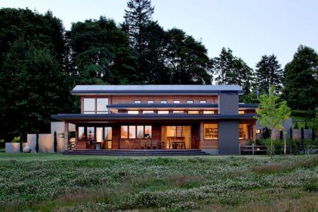 façade terrasse de nuit - Skyline Residence par Nathan Good Architects - Portland, Usa