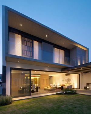 façade terrasse de nuit - V-House par Agraz Arquitectos - Puerta Plata, Mexique