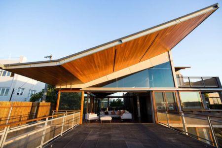 façade terrasse - edge house par Steele Associates - Australie