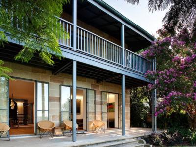 façade terrasse & entrée - Bulwarra - maison kate Blanchett - Sydney, Australie