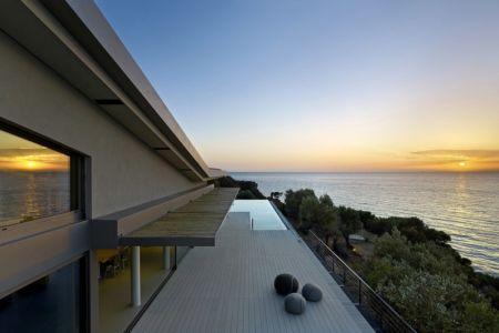 façade terrasse et panorama - Notre Ntam' Lesvos Residences par Z-level à Agios - Fokas, Grèce