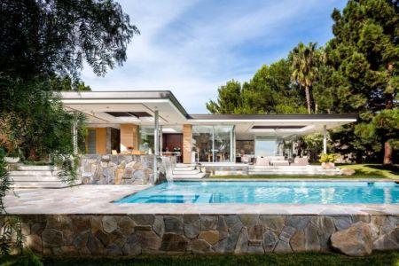 façade terrasse et piscine - Malibu Crest par Studio Bracket - Malibu, Usa
