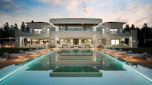 façade terrasse et piscine - luxueuse villa par Ark Architects - San Roque, Espagne
