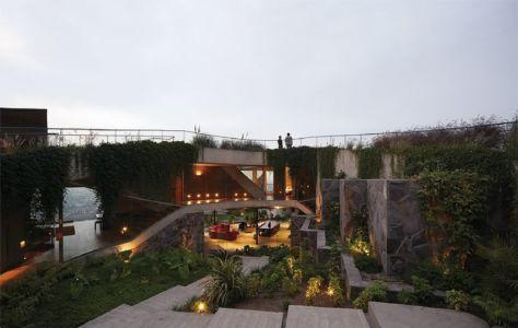 façade terrasse jardin - Pachamanca-House par 1-arquitectos - Lima, Pérou