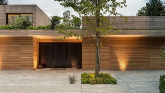 façade terrasse & jardin - Wood-House par Marco Carini - Como, Italie
