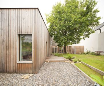 façade terrasse & jardin - vlb-maison-bbc par Detroit Architectes - Verrières-le-Buisson, France