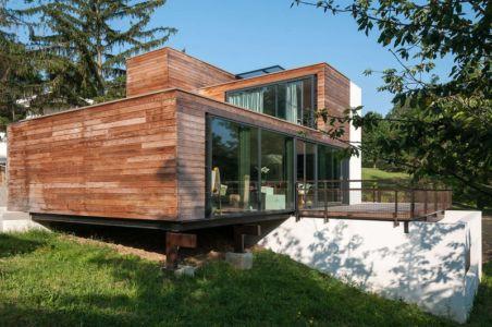 façade terrasse - maison Pegasus par Saint-Cricq architecte - Toulouse, France