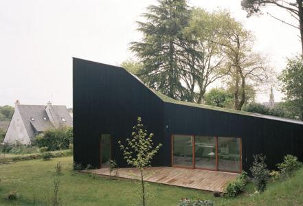 façade terrasse - maison bois secondaire par RAUM -France - Photos - Audrey Cerdan