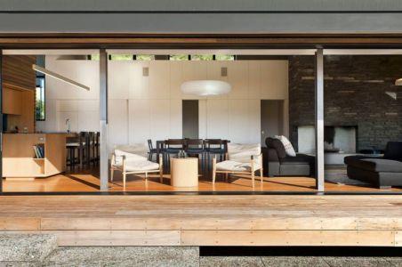 façade terrasse - modernist-style-house par Herriot+Melhuish Architecture - Central Otago, Nouvelle-Zelande