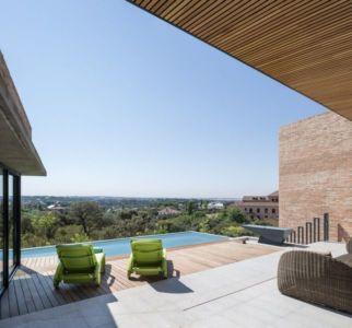 façade terrasse & piscine - House-Molino par Mariano Molina Iniesta, Espagne