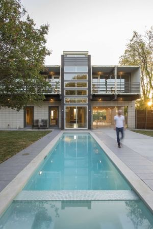 façade terrasse piscine - PV14 House par M Gooden Design - Dallas, Usa