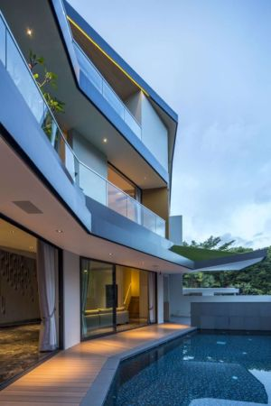 façade terrasse & piscine - Trevose-House par Ad-Lab - Singapour