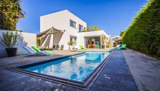 façade terrasse piscine - Villa Pop Art à Anglet, France