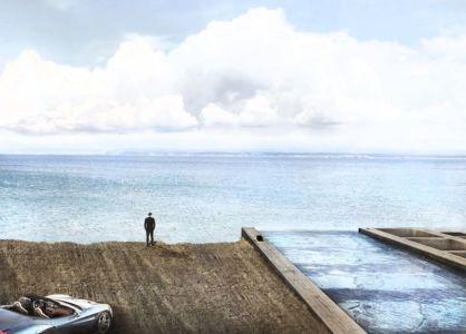 façade toit piscine en verre et vue panoramique mer - Casa Brutale par OPA_Open Plateform - Grèce