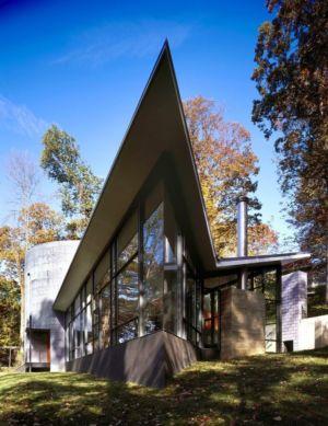 façade toite en V - Hargrave-Residence par Robert M. Gurney Architect - Maryland, Etats-Unis