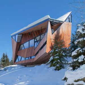 façade vallée - Hadaway house par Patkau architects - Whistler valley, Canada