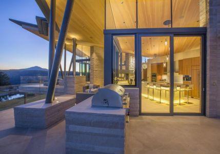 façade vitrée entrée secondaire - home-Colorado par Bill Poss - Colorado, USA