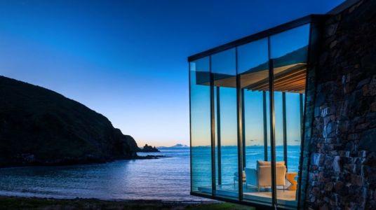 façade vitrée & vue panoramique océan - fascinating-nature-house par Pattersons - Nouvelle-Zélande