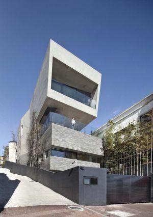 Façade Balcon étage - Songdo-House Par Architect-K En Coree Du Sud