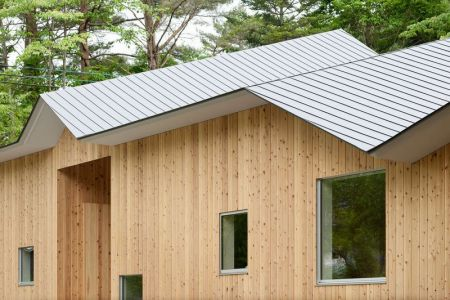 Façade Bois & Architecture Toit - Shed-Roof-House Par Hiroki Tominaga - Yamanashi, Japon