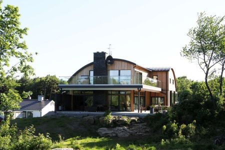 façades terrasse - Villa E par Stringdahl Design - Suède