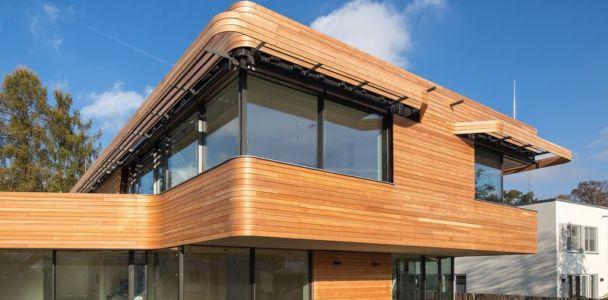 fenêtres et sa casquette originale- Holistic Living Healthy par Graft Architects - Allemagne