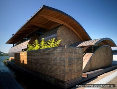 floating house - Robert Oshatz architects - Portland, Oregon, USA