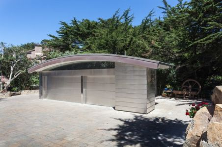 garages - Carmel Highlands Residence par Eric Miller Architects - Carmel-By-The-Sea, Usa