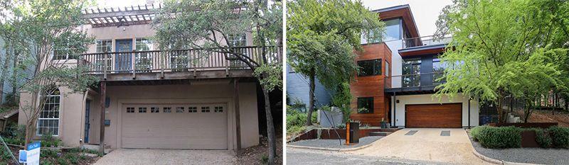 A gauche : l'ancienne | A droite la rénovée - 1980-Home par Dick Clark + Associates - Austin, USA