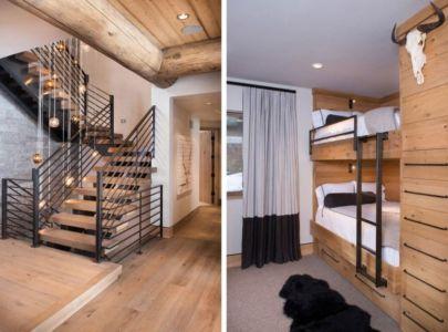 gauche-escalier accès chambres - droite-chambres d'hôtes étage - Vail-Ski-Haus par Read Design Group - Vail, USA