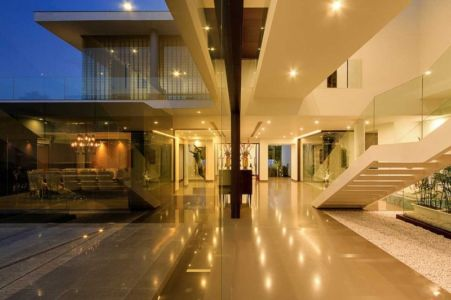 grand hall d'entrée - Center Court Villa par DADA Partners - New Delhi, Inde