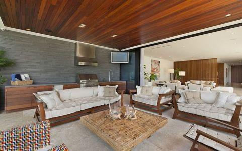 grand salon - Miami Beach Residence par New Stone Age - Miami Beach, Usa