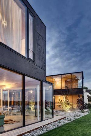 grande baie vitrée coulissante - Lake-House par Maximilien Eisenkock Neufelder, Autriche