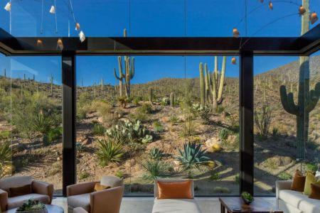 grande baie vitrée & vue paysage - desert-residence par Shelby Wilson - Arizona, USA