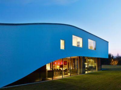 grande baie vitrée & vue pièce de vie - Autofamily House - Robert Konieczny-KWK Promes - Pologne