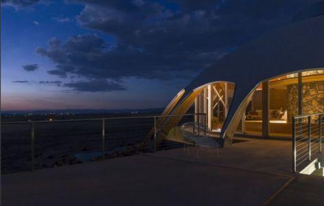 grande passerelle entrée - Volcano-House - Californie, USA