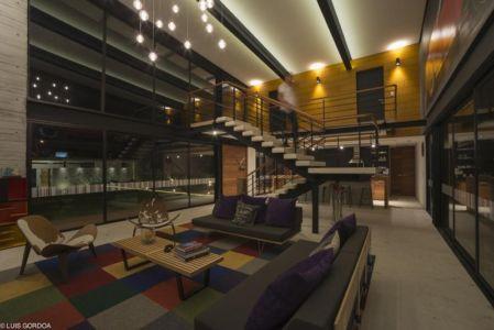 grande pièce de vie - ALD House par Space Mexico - Cuernavaca, Mexique