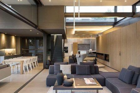 grande pièce de vie - House Sar par Nico van der Meulen Architects - Johannesbourg, Afrique du Sud