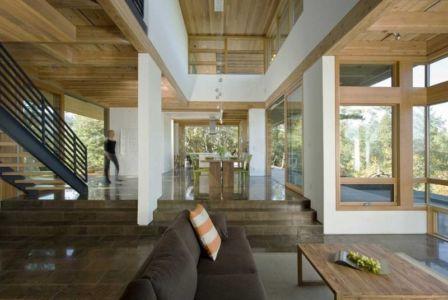 grande pièce de vie - HudsonPanos Residence par Swatt & Miers Architects - Healdsburg, Usa