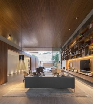 grande pièce de vie - Tetris House par Studio mk27 - São Paulo, Brésil