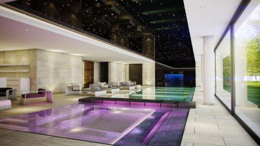 grande pièce de vie avec piscine - luxueuse villa par Ark Architects - San Roque, Espagne