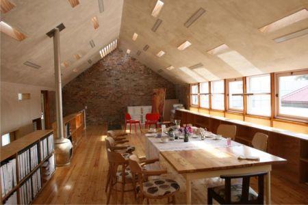 grande salle de séjour - Red-House par Kate Otten Architectes - Afrique du Sud