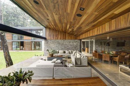 grande terrasse ouverte - Casa MM par Elías Rizo Arquitectos - Mexique