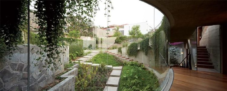 grandes baies vitrées - Pachamanca-House par 1-arquitectos - Lima, Pérou
