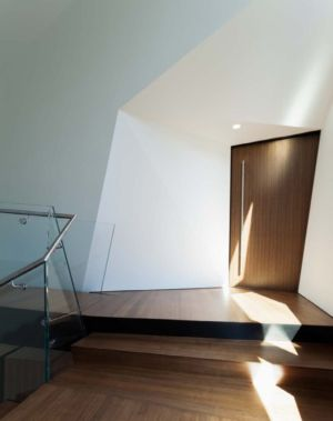 hall entrée - Hadaway house par Patkau architects - Whistler valley, Canada