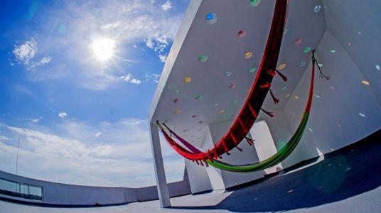 hamacs balcon - Nest house par Gerardo Ars Arquitectura - Alvarado, Mexique